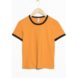 Coloured Ringer Tee - Yellow