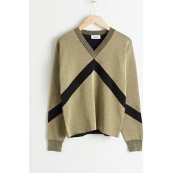Metallic Varsity Stripe Sweater - Black found on Bargain Bro UK from & other stories