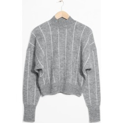 Vertical Stripe Wool Blend Sweater - Grey found on Bargain Bro UK from & other stories