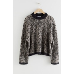 Leopard Knit Sweater - Beige found on Bargain Bro UK from & other stories