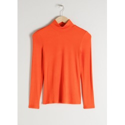 Fitted Long Sleeve Turtleneck - Orange found on Bargain Bro UK from & other stories