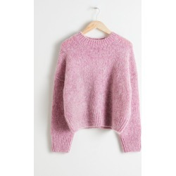 Boxy Wool Blend Sweater - Pink found on Bargain Bro UK from & other stories