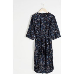 Belted Polka Dot Midi Dress - Black found on Bargain Bro UK from & other stories