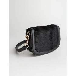 Faux Fur Mini Saddle Bag - Black found on Bargain Bro UK from & other stories
