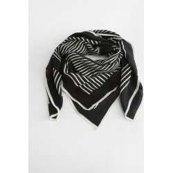 Striped Light Wool Scarf - Black found on Bargain Bro UK from & other stories