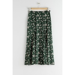 Daisy Print Flared Midi Skirt - Green found on Bargain Bro UK from & other stories
