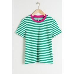 Striped Tee - Green