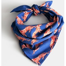Cotton Tiger Print Scarf - Blue found on Bargain Bro UK from & other stories