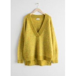 Oversized Wool Blend Sweater - Yellow found on Bargain Bro UK from & other stories