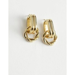 Chunky Braided Hoop Earrings - Gold found on Bargain Bro UK from & other stories