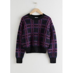 Check Alpaca Wool Blend Sweater - Black found on Bargain Bro UK from & other stories