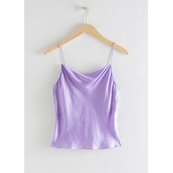 Satin Cowl Neck Tank Top - Purple found on Bargain Bro UK from & other stories