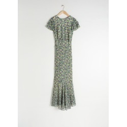 Ruffled Floral Maxi Dress - White found on Bargain Bro UK from & other stories
