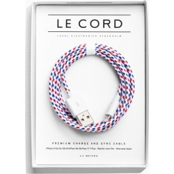 Le Cord Tricolour Charge Cable - Red
