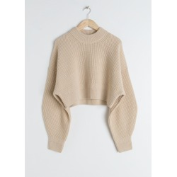 Cropped Wool Blend Sweater - Beige found on Bargain Bro UK from & other stories