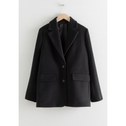 Wool Blend Oversized Blazer - Black found on Bargain Bro UK from & other stories