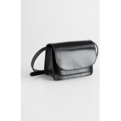 Leather Flap Over Crossbody Bag - Black found on Bargain Bro UK from & other stories