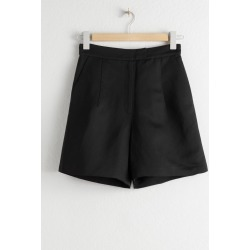 High Waisted Linen Blend Shorts - Black found on Bargain Bro UK from & other stories