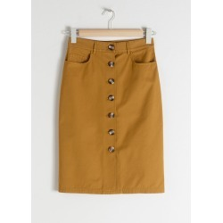 Cotton Twill Workwear Skirt - Yellow found on MODAPINS from & other stories for USD $41.42
