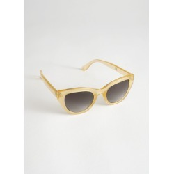 Cat Eye Sunglasses - Beige found on Bargain Bro UK from & other stories