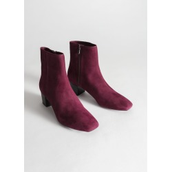 Suede Ankle Boots - Red found on Bargain Bro UK from & other stories