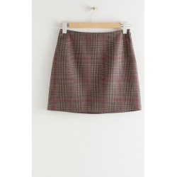 Houndstooth Mini Skirt - Beige found on Bargain Bro UK from & other stories