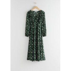 Sheer Printed Midi Dress - Green found on Bargain Bro UK from & other stories