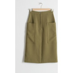 High Waisted Workwear Skirt - Beige found on MODAPINS from & other stories for USD $43.84