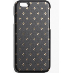 Gold-Printed Leather Iphone 6 Case - Black
