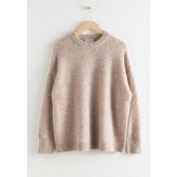 Oversized Alpaca Blend Relaxed Sweater - Brown found on Bargain Bro UK from & other stories