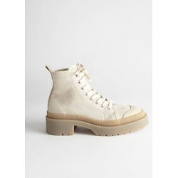 Canvas Platform Heeled Boots - Beige found on Bargain Bro UK from & other stories