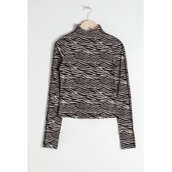 Fitted Zebra Turtleneck - Beige found on Bargain Bro UK from & other stories