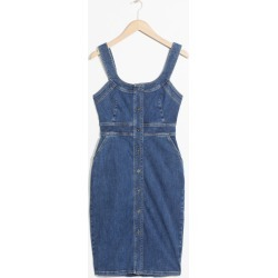 Fitted Denim Pencil Dress - Blue found on MODAPINS from & other stories for USD $49.47