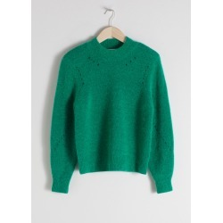 Structured Alpaca Wool Blend Sweater - Green found on Bargain Bro UK from & other stories