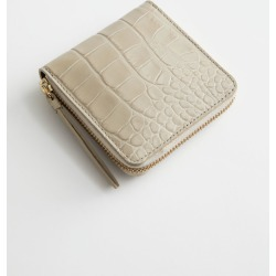 Embossed Leather Zip Wallet - Beige found on Bargain Bro UK from & other stories