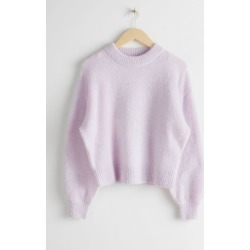 Fuzzy Wool Blend Sweater - Purple found on Bargain Bro UK from & other stories