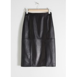 Midi Leather Pencil Skirt - Black found on Bargain Bro UK from & other stories
