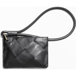 Braided Leather Clutch - Black found on MODAPINS from & other stories for USD $81.07