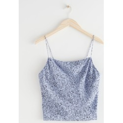 Satin Cowl Neck Tank Top - Blue found on Bargain Bro UK from & other stories
