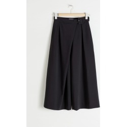 Belted Stretch Wool Culotte Trousers - Black found on Bargain Bro UK from & other stories