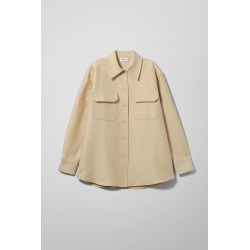 Baldwin Overshirt - Beige found on MODAPINS from Weekday for USD $56.36