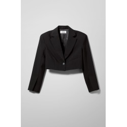 Dominique Cropped Blazer - Black found on Bargain Bro UK from Weekday