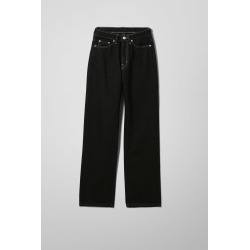 Rowe Extra High Straight Jeans - Black found on Bargain Bro UK from Weekday