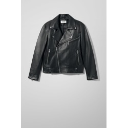 Biker Leather Jacket - Black found on Bargain Bro UK from Weekday