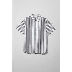 Louis Striped Short Sleeve Shirt - Blue found on Bargain Bro UK from Weekday