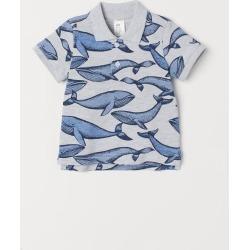 H & M - Polo Shirt - Gray