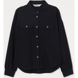 H & M - Utility Shirt - Black found on Bargain Bro India from H&M (US) for $14.99