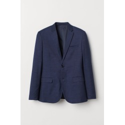 H & M - Skinny Fit Blazer - Blue found on Bargain Bro Philippines from H&M (US) for $24.99