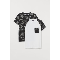 H & M - 2-pack Muscle Fit T-shirts - Black found on Bargain Bro from H&M (US) for USD $22.79