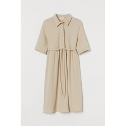 H & M - MAMA Piqué Dress - Beige found on Bargain Bro from H&M (US) for USD $22.79